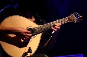 """fado""-playing a tradicional portuguese guitar"