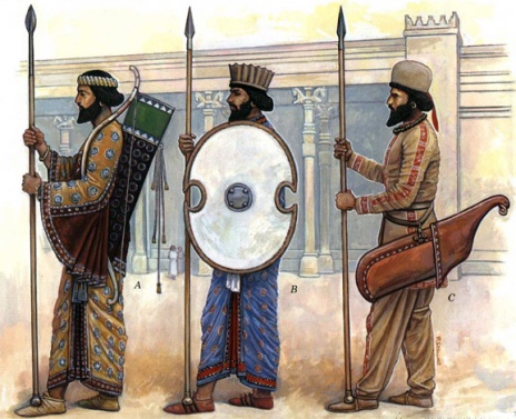 Achaemenian Susian, Persian & Median Palace Guards at Persepolis