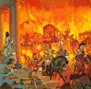 Alexander the Great suppressing a rebellion in Greece