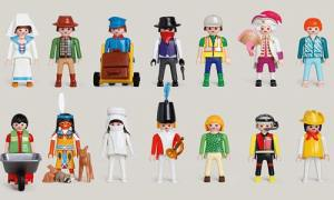 14 Playmobil figures (eg nurse, American Indian, gardener)