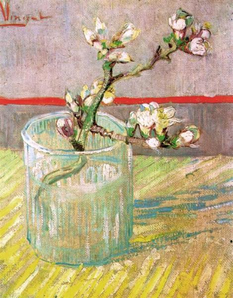 blossoming-almond-branch-in-a-glass-1888