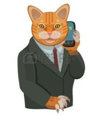 82156636-gattino-parlando-su-un-telefono-cellulare-